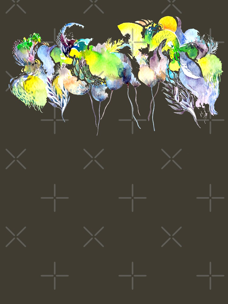 Abstract Blue Birds by whya