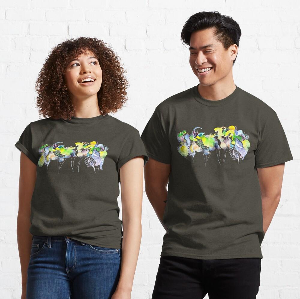 Abstract Blue Birds Classic T-Shirt