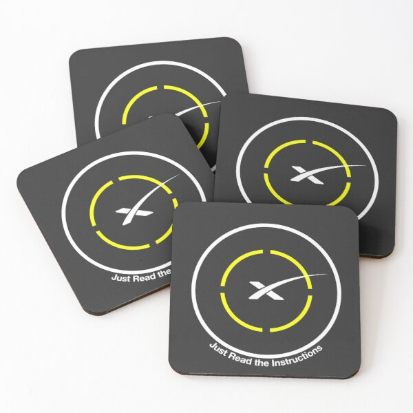 SpaceX - Just Read the Instructions Droneship Coasters (Set of 4)