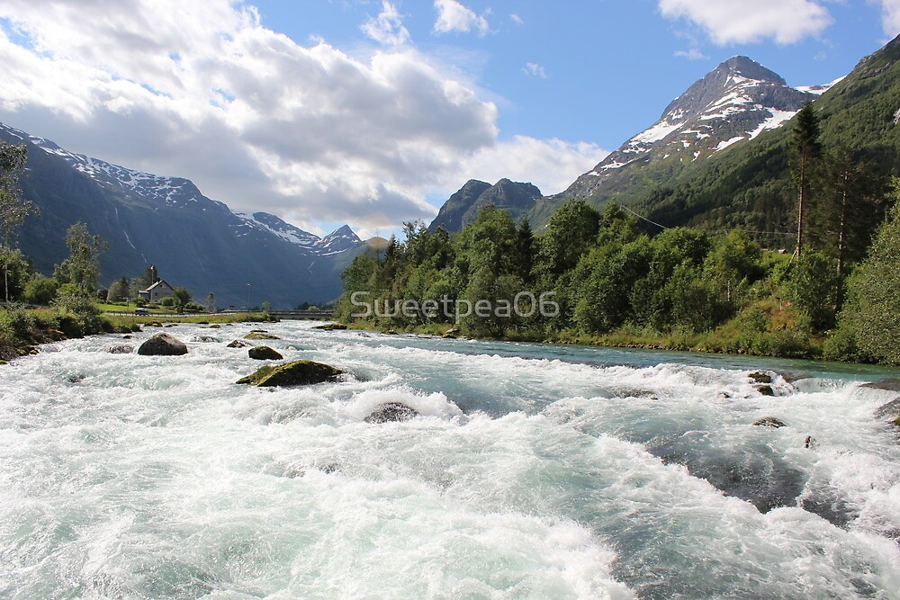 River in Olden in Norway by Sweetpea06