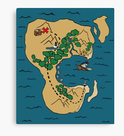 Pirate Map Canvas Print