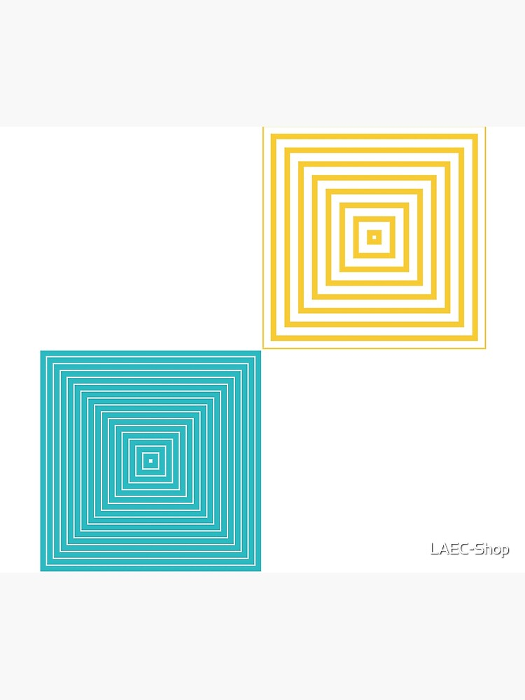 Colour Pop Squares - Turquoise and Yellow by LAEC-Shop