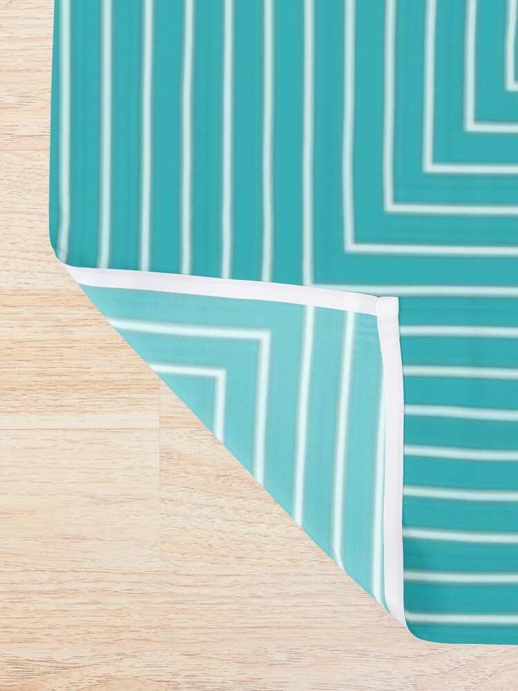 Alternate view of Colour Pop Squares - Turquoise and Yellow Shower Curtain
