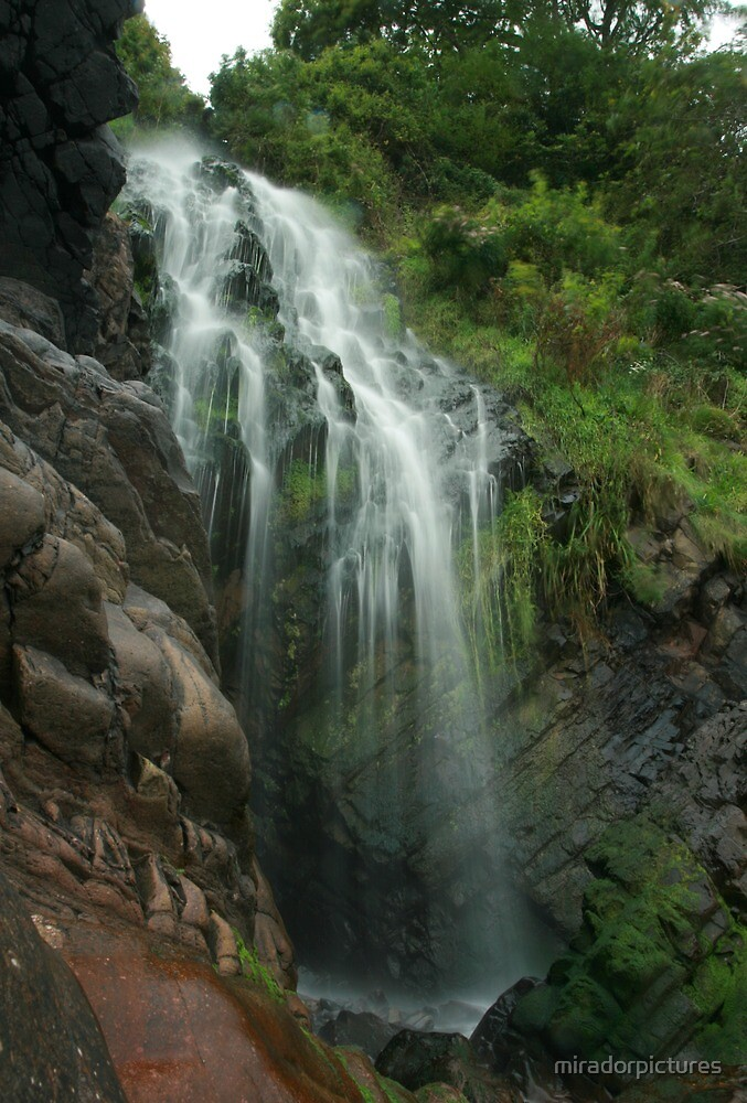 Waterfall on the Exmoor coast by miradorpictures
