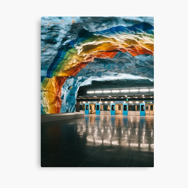 Stockholm Rainbow Metro Station, Sweden Canvas Print