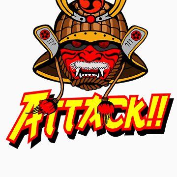 SAMURAI ATTACK!! by PureOfArt