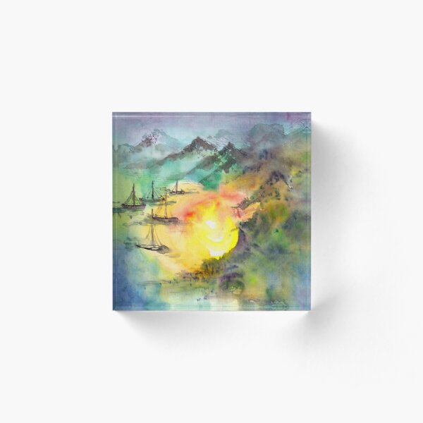 Sailing Home Acrylic Block