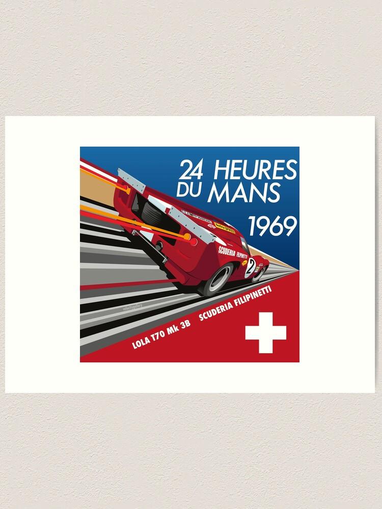 Alternate view of Le Mans 1969 Lola Art Print