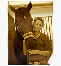 The Lady Rider . ### 2 ### . Galicia . Hipodrom Kraków - Swoszowice. by Andrzej Goszcz. Poster