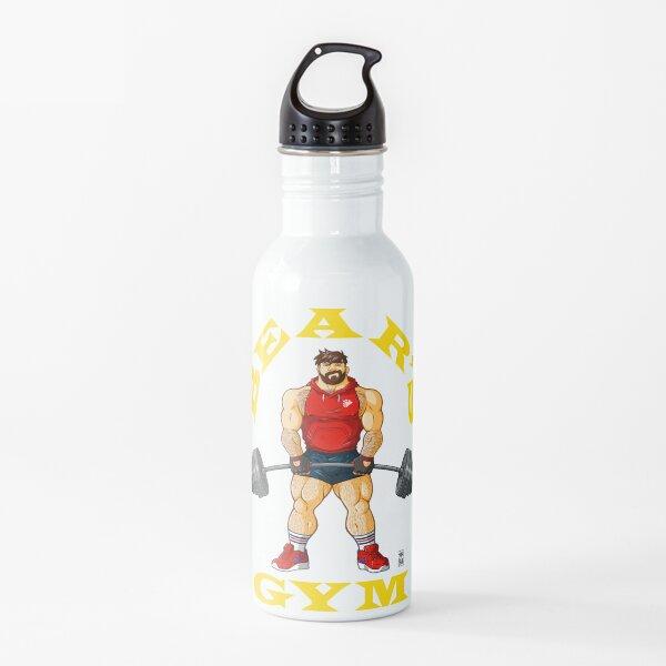 ADAM LIKES BEAR'S GYM - YELLOW WRITING Water Bottle