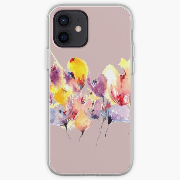 Wild Flowers - Yellow and Purple iPhone Soft Case