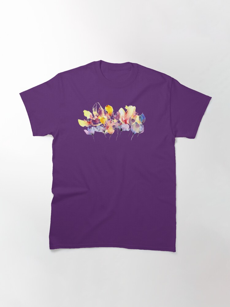 Alternate view of Wild Flowers - Yellow and Purple Classic T-Shirt