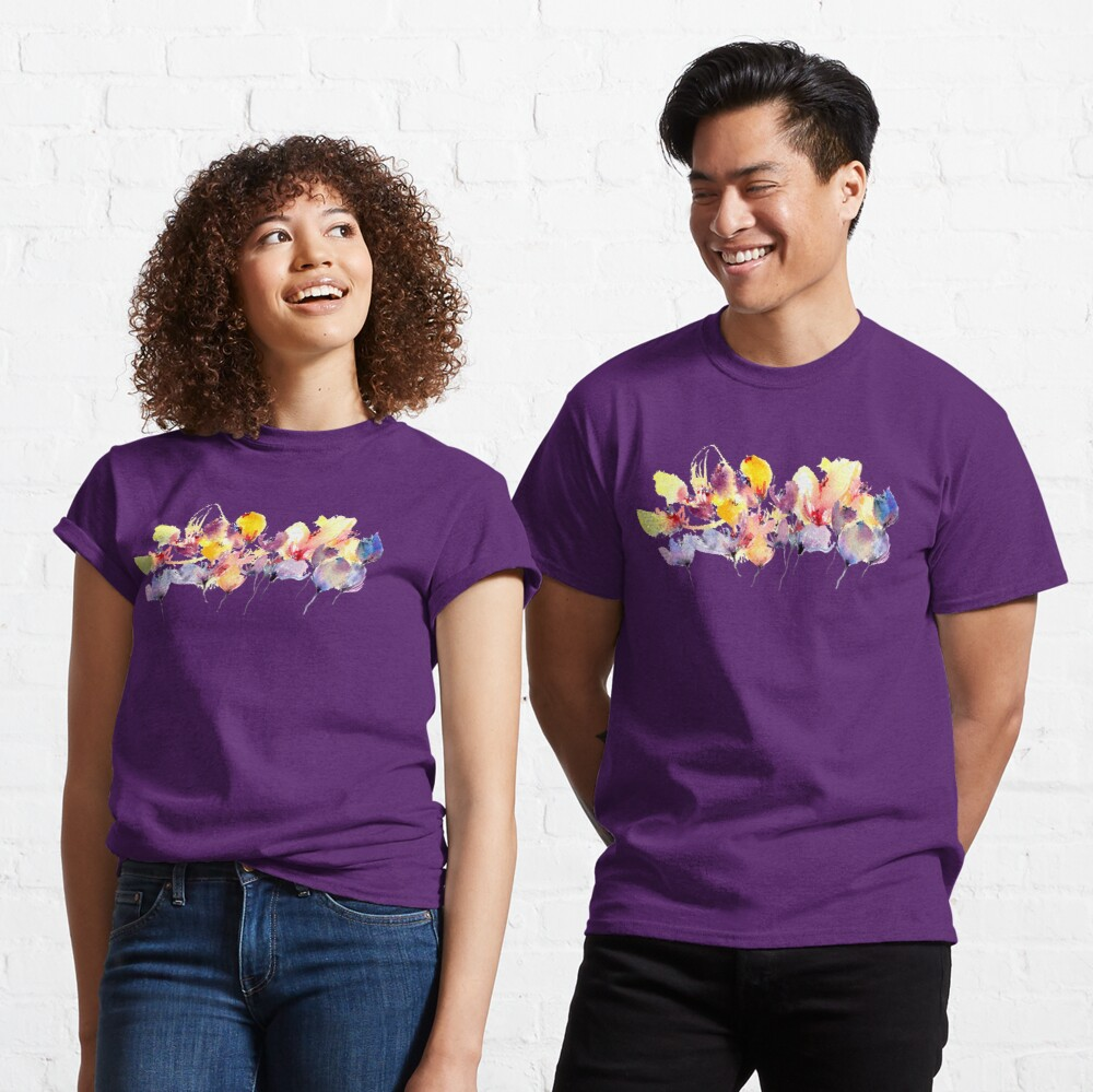 Wild Flowers - Yellow and Purple Classic T-Shirt