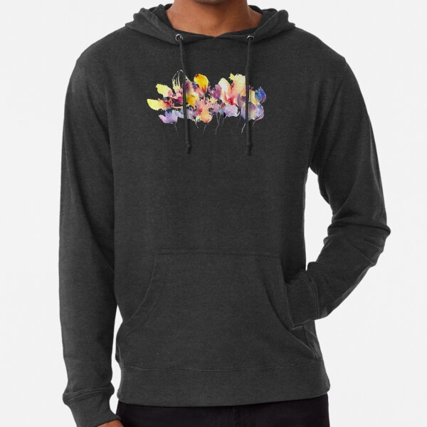 Wild Flowers - Yellow and Purple Lightweight Hoodie
