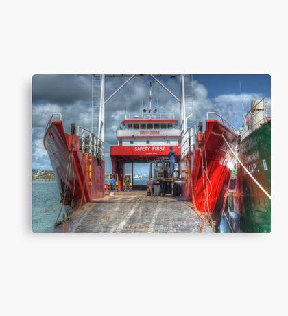 Cargo Boats at Potter's Cay - Nassau, The Bahamas Canvas Print