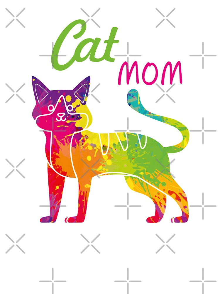 Colorful Rainbow Beautiful Cat Lover Girl Love Cats Kitten Cute Cat Mom T Shirt Kittens Cat Lady Gift Shirts Kids T Shirt By Happiestperson Redbubble