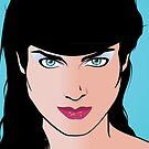 Pop Art Illustration of Girl  by Frank Schuster
