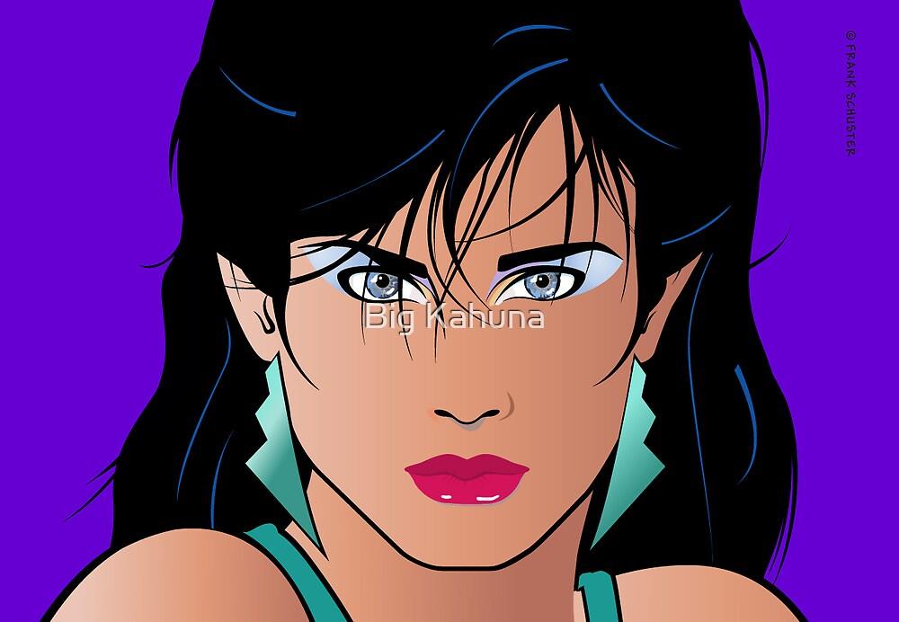 Pop Art Illustration of Girl Veronica by Frank Schuster