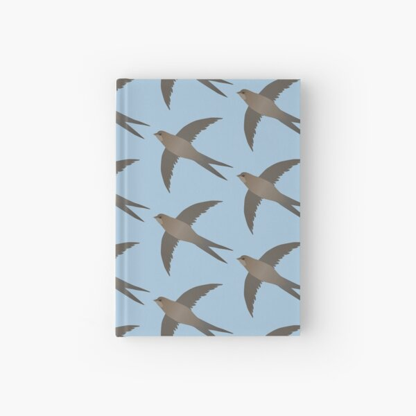 Common swift flying in the air Hardcover Journal
