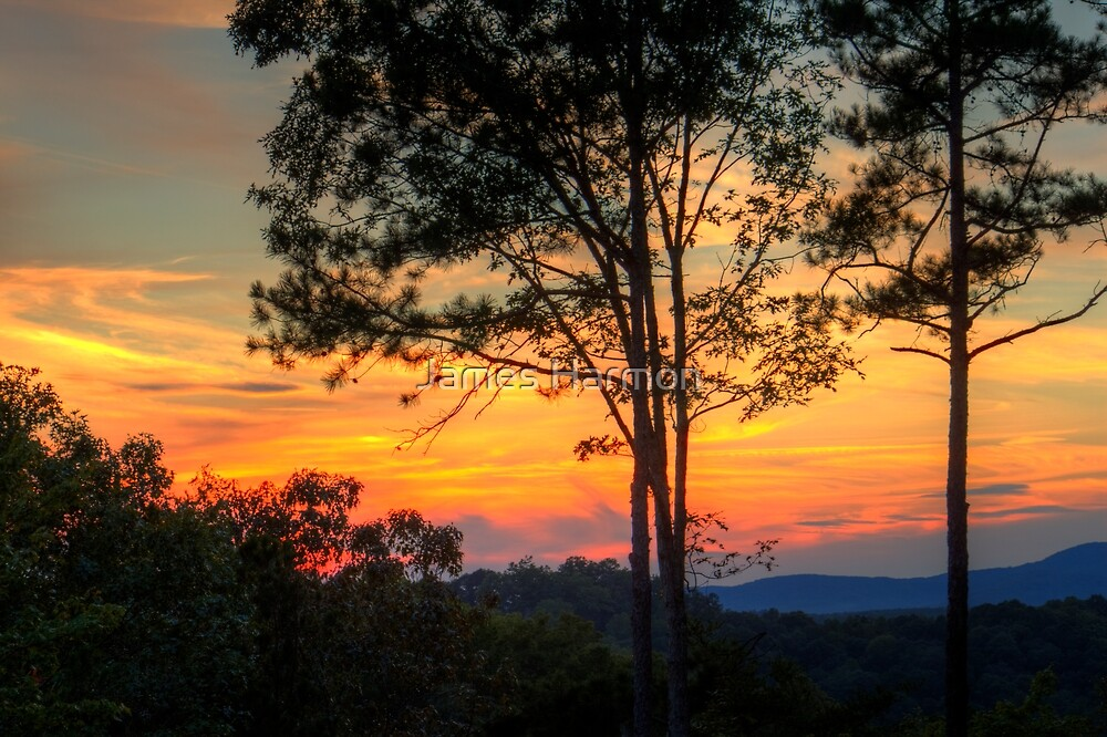 Sunset over the Mountains on 09/15/2012 by James Harmon