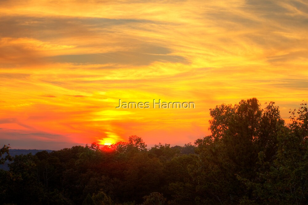 Sunset over the Coosawattee by James Harmon