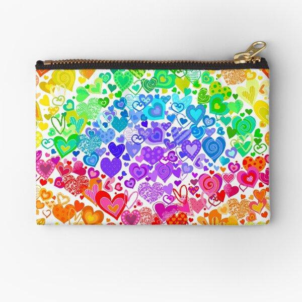 Heart Rainbows Zipper Pouch