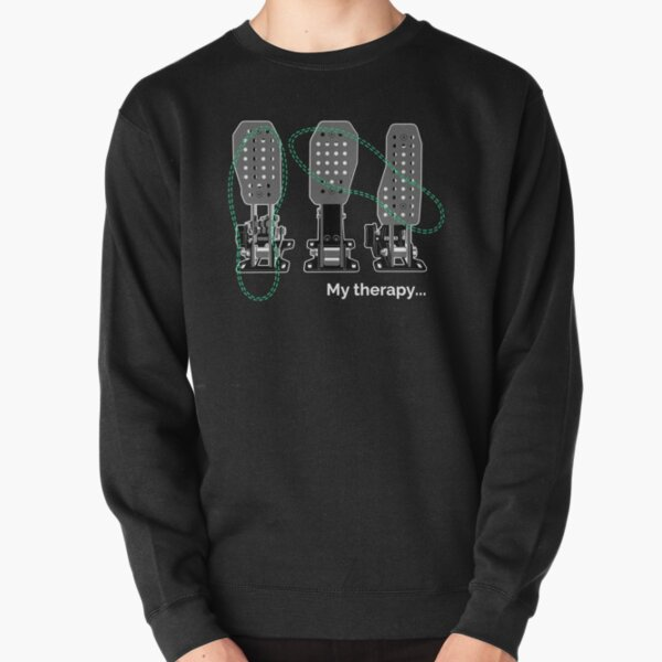 Car Guys Therapy, 3 Pedals, iRacing, Funny Car Lovers Gift, Car Enthusiast, Car Video Games Pullover Sweatshirt