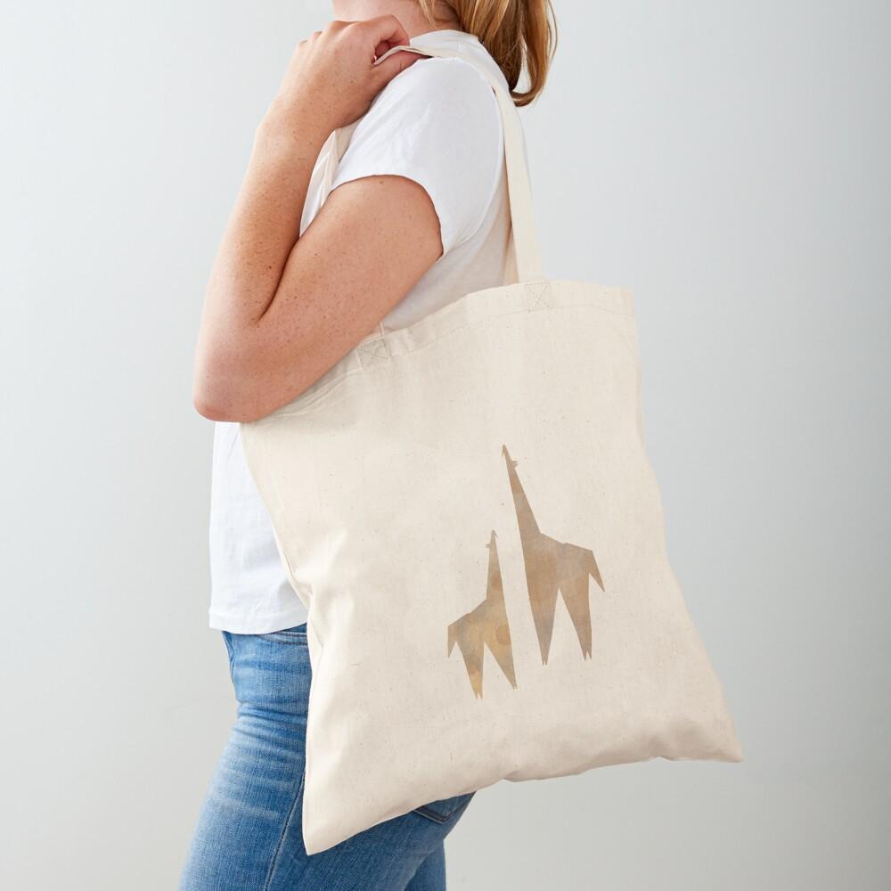 Origami Giraffe Tote Bag