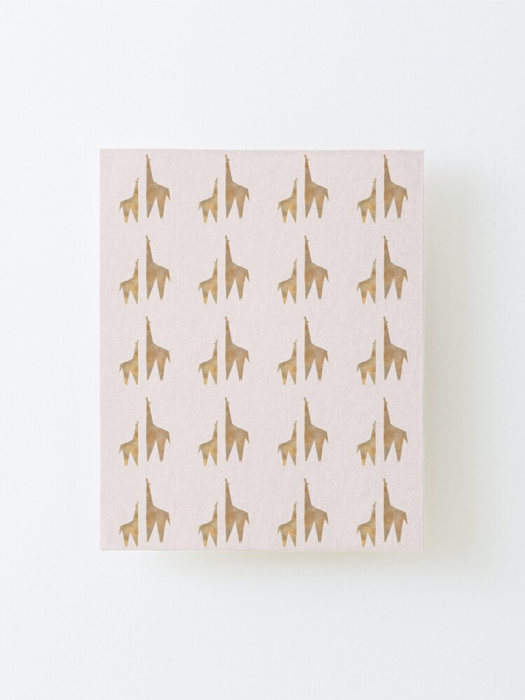 Alternate view of Origami Giraffe Mounted Print