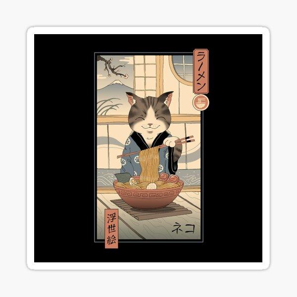 Neko Ramen Ukiyo-e Sticker