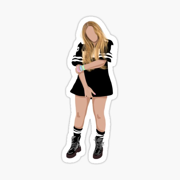 Beyonce, homecoming, Illustration, female figure, silhouette, destiny's child, 90s, 00s nostalgia  Sticker