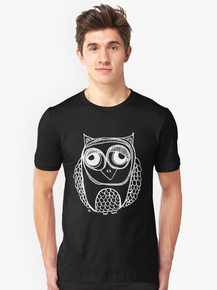 Owl number 1 - white Unisex T-Shirt Front