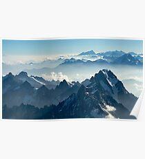 Grandes Jorasses from Mont Blanc I Poster