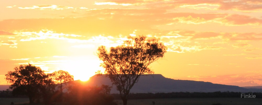 Sunset at Injune, Qld by Finkie