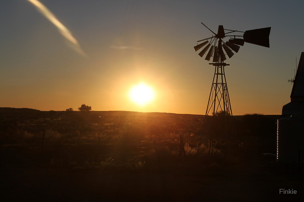 Sunset at Silverton, NSW by Finkie