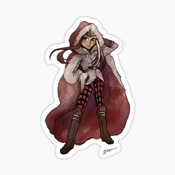 Cerise Hood Sticker