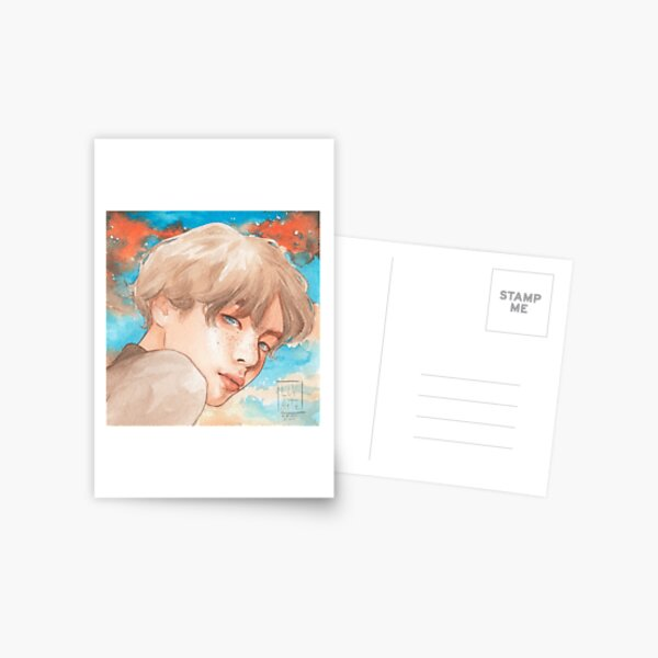 Taehyung sunset boy Postcard