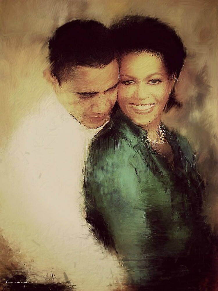 PRESIDENT OBAMA & THE FIRST LADY by Laura E  Shafer