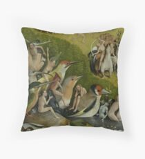 Hieronymus Bosch - Garden of Earthly Delights - Detail #1a Throw Pillow