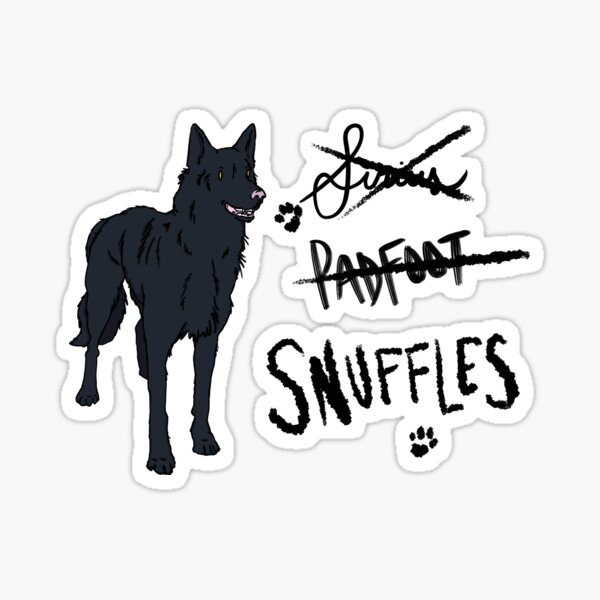 Siriusly Snuffles Sticker