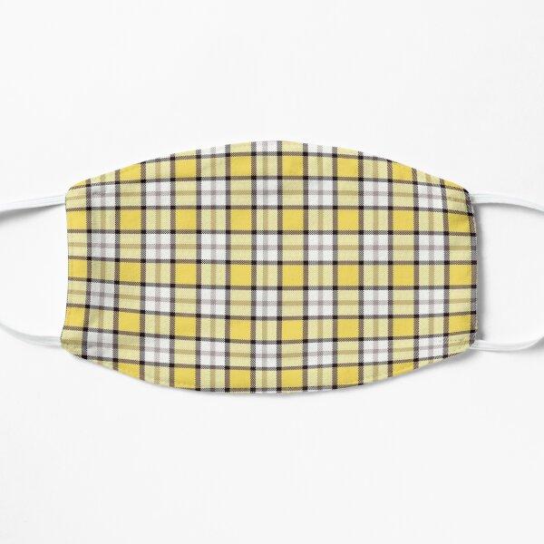 yellow plaid phone case - wildflower  Flat Mask