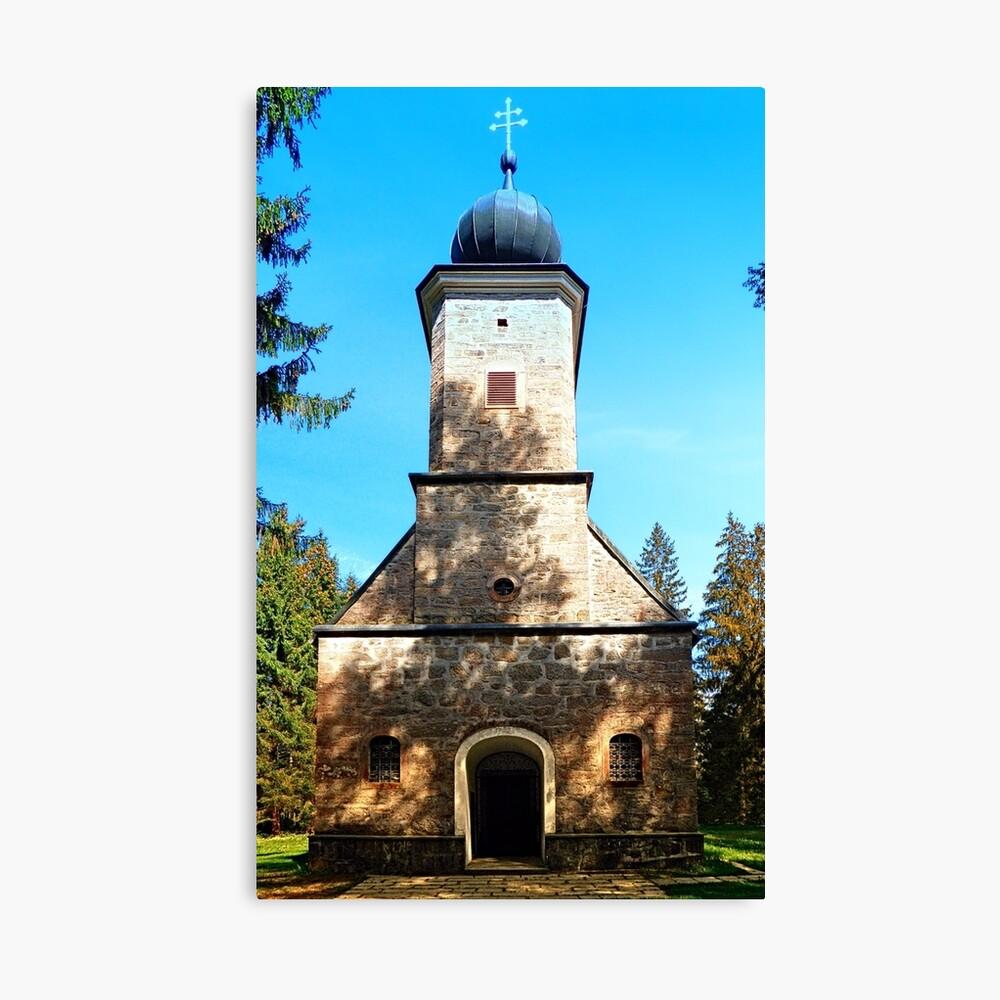 Maria Rast forest chapel 2 Canvas Print