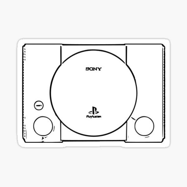 Cartoon consoles - Playstation Sticker