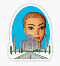 head of the taj mahal Sticker