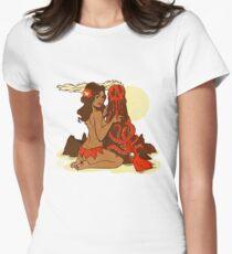Volcano Goddess Women's Fitted T-Shirt