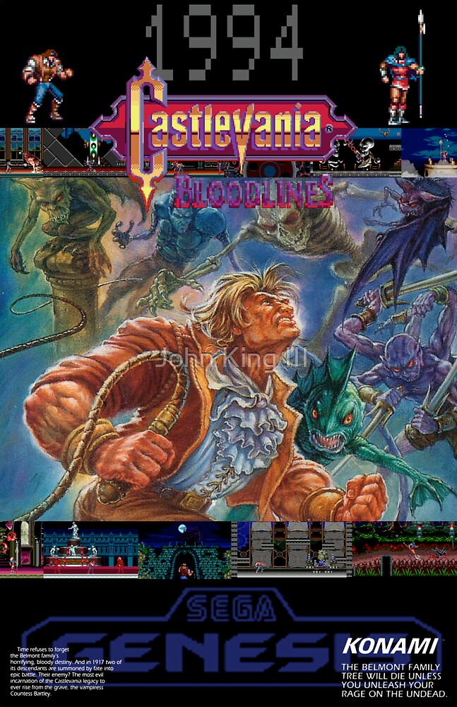 Castlevania: Bloodlines 1994 by John King III