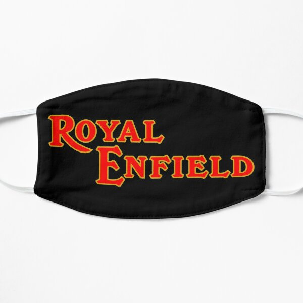 Logotipo de la motocicleta Royal Enfield 2 Mascarilla plana