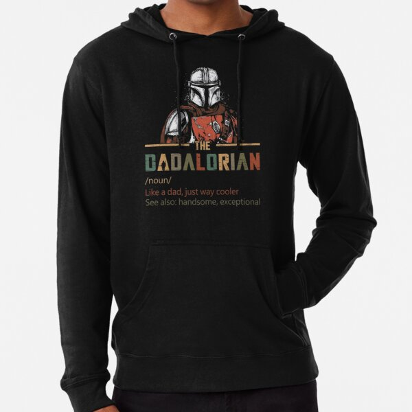 The Dadalorian Funny Fathers Day Quarantine Lightweight Hoodie