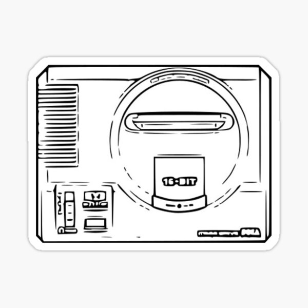 Cartoon consoles - Megadrive / Genesis Sticker