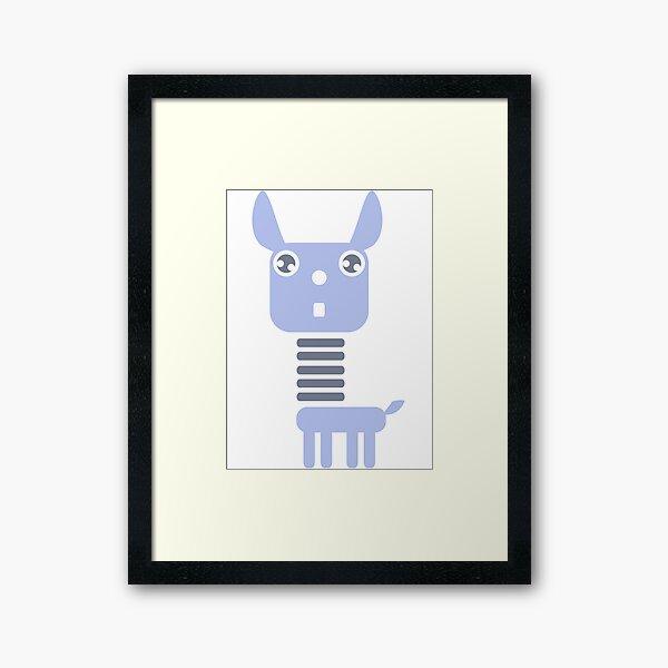 Robot Llama Framed Art Print